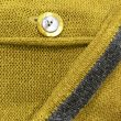 Detail from Carousel Medium Jacket in sap/grey, knitted in silk/lambswool yarn, desgned and made in Orkney