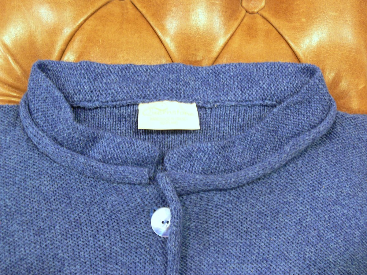 Arizona Short Jacket detail in iris, knitted in silk/lambswool, designed and made in Orkney