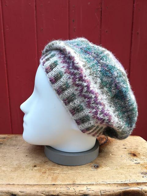 Traditional fair isle beret