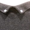 Lola medium tunic in midnight, back detail, knitted in silk/lambswool