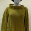 Ella medium tunic in sap, knitted in silk/lambswool