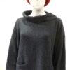 Ella medium tunic in midnight, knitted in silk/lambswool