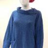Ella medium tunic in iris, knitted in silk/lambswool
