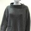 Ella medium tunic in indigo, knitted in silk/lambswool