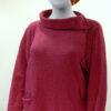 Ella medium tunic in cerise, knitted in silk/lambswool