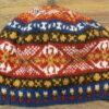 Traditional hand knitted fair isle beanie, in Jamieson's spindrift yarn