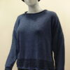 Tide short tunic in iris/midnight, knitted in silk/lambswool