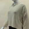 Norna short tunic in ivory, knitted in silk/lambswool