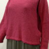 Norna short tunic in cerise, knitted in silk/lambswool