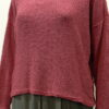 Norna short tunic in old rose, knitted in silk/lambswool