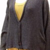 Norna short jacket in midnight, knitted in silk/lambswool