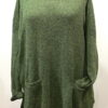 Arizona long tunic in fern, knitted in silk/lambswool