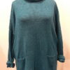 Arizona long tunic in teal, knitted in silk/lambswool