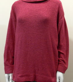 Lola medium tunic in cerise, knitted in silk/lambswool