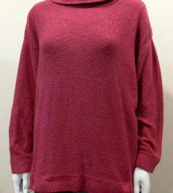 Lola medium tunic in cerise, knitted in silk/lambswool