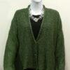 Norna short jacket in fern, knitted in silk/lambswool