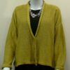 Norna short jacket in sap, knitted in silk/lambswool
