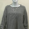 Norna short tunic in dove, knitted in silk/lambswool