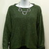 Norna short tunic in fern, knitted in silk/lambswool