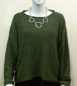 Norna short tunic in fern, knitted in silk/lambswool