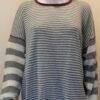 Rackwick striped medium tunic knitted in silk/lambswool