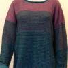 Strata medium tunic in teal/midnight/plum/cerise knitted in silk/lambswool