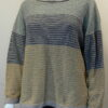 Strata medium tunic in shingle/sand/indigo/mint knitted in silk/lambswooll