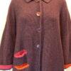 Duet medium jacket in plum, flame, cerise. Knitted in silk/lambswool.